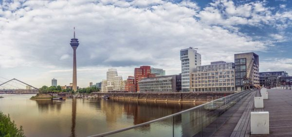 Panorama-Wandbild-Düsseldorf-Medienhafen